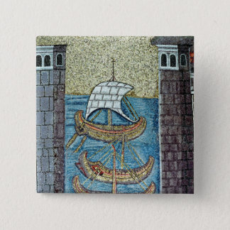 Three ships entering the port of Ravenna Button