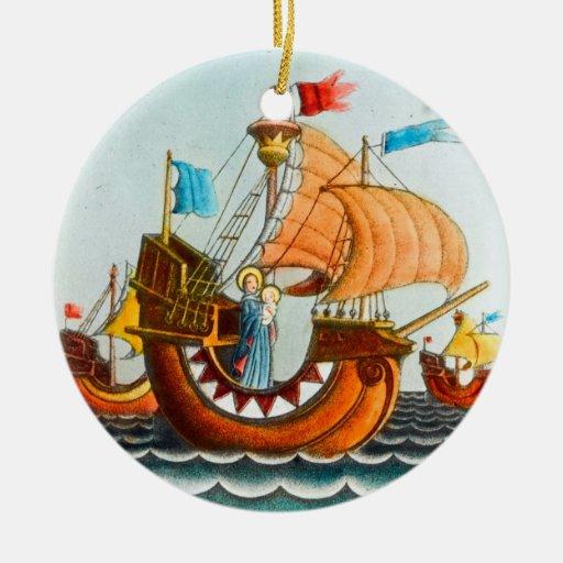 Three Ships Ornament