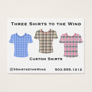 Three Shirts to the Wind Business Card