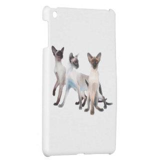 Three Siamese Cats iPad Mini Covers