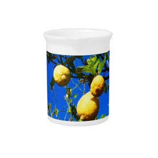 Three Sicilian Lemons Beverage Pitcher