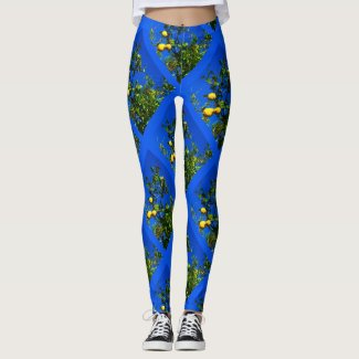Three Sicilian Lemons Leggings