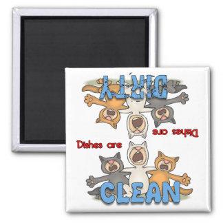 Three Singing Cats Dishwasher Magnet