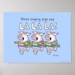 THREE SINGING PIGS poster by Sandra Boynton