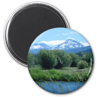 Three Sisters 2 Inch Round Magnet