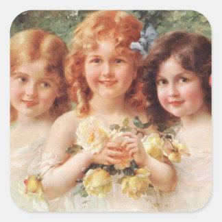 Three Sisters by Émile Vernon Square Sticker