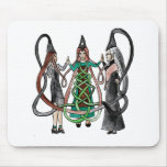 Three Sisters - Celtic witches Mouse Pad
