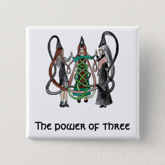 Three Sisters - Celtic witches Pinback Button