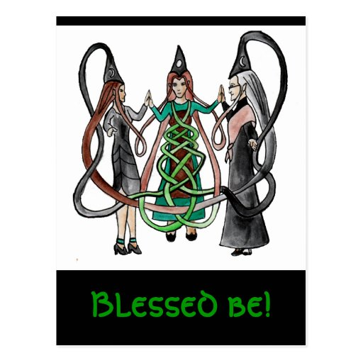 Three Sisters - Celtic witches Postcard
