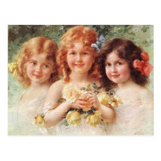 Three Sisters - Émile Vernon Postcard