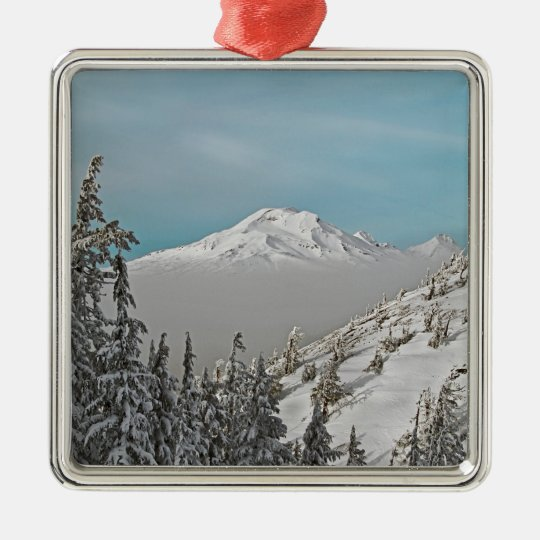 Three Sisters from Bachelor Butte - No Text. Metal Ornament
