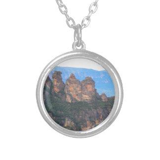 Three Sisters, Katoomba, Australia Silver Plated Necklace