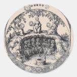 Three Sisters of Alchemy Classic Round Sticker