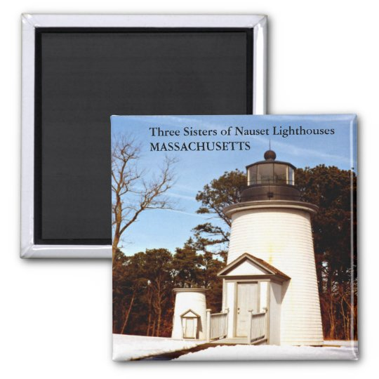 Three Sisters of Nauset Lighthouses Magnet