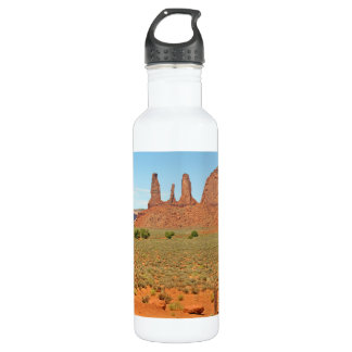 Three Sisters Stone Formation at Monument Valley 24oz Water Bottle