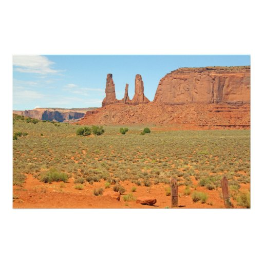 Three Sisters Stone Formation at Monument Valley Stationery Paper