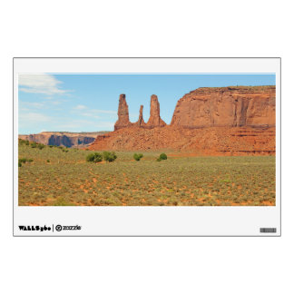 Three Sisters Stone Formation at Monument Valley Wall Decal