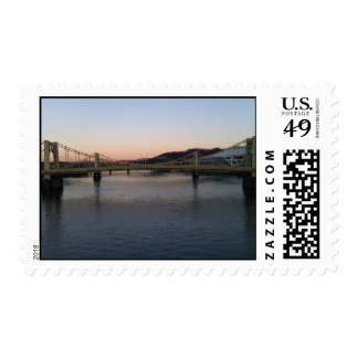 Three Sisters View from Clemente Bridge Postage Stamp