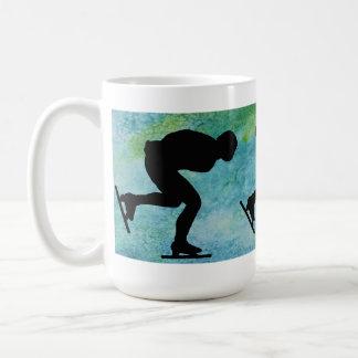 Three Skaters on Aqua Coffee Mug