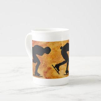 Three Skaters Porcelain Mug