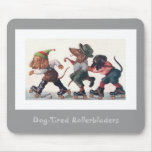 Three Skating Dachshunds - A Rollerblader's Mouse Pad