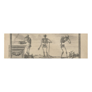 Three Skeletons Panel Wall Art