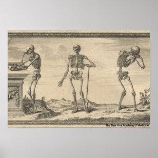 Three Skeletons Poster