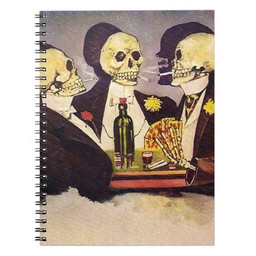 Three Skeletons Spiral Notebook