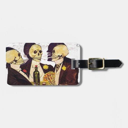 Three Skeletons Travel Bag Tags