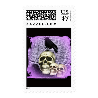 Three Skull and a Raven Postage