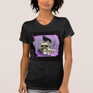 Three Skulls and a Raven T-Shirt