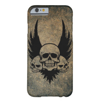 Three Skulls and Feathers iPhone 6/6s case