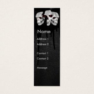 Three Skulls Mini Business Card