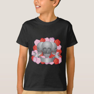 Three Skulls with Banner T-Shirt