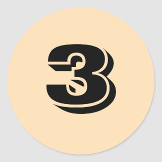 Three Small Round Wheat Number Stickers by Janz
