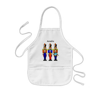 Three Smart Soldiers on Parade Kids' Apron