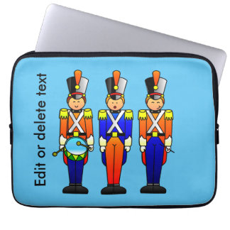 Three Smart Toy Soldiers on Parade Laptop Computer Sleeves
