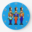 Three Smart Toy Soldiers on Parade Large Clock (<em>$33.45</em>)