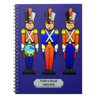 Three Smart Toy Soldiers on Parade Notebook