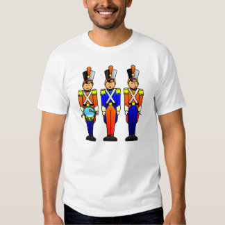 Three Smart Toy Soldiers On Parade T-shirt