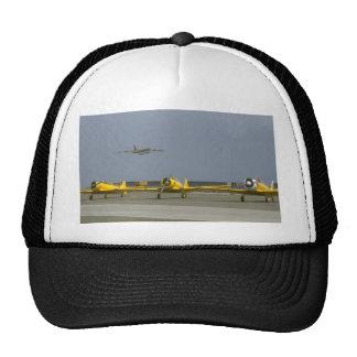 Three SNJ On Ground, B-52 Flying Trucker Hat