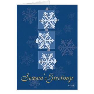 Three Snowflakes Christmas Card Card