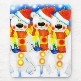 Three Snowmen at Christmas Mouse Pad