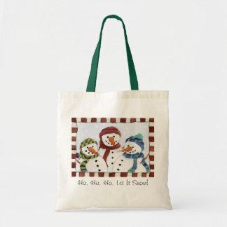 Three Snowmen Bag