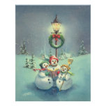 THREE SNOWMEN by SHARON SHARPE Print