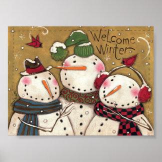 Three Snowmen Posters