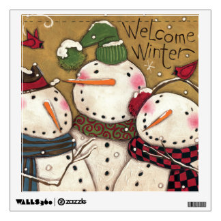 Three Snowmen Wall Sticker