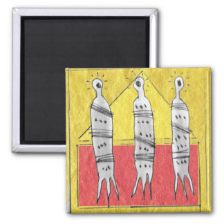 three souls 2 inch square magnet