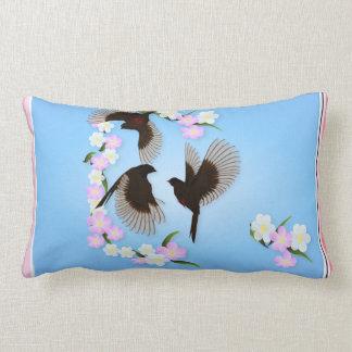 Three Sparrows Pillew Lumbar Pillow