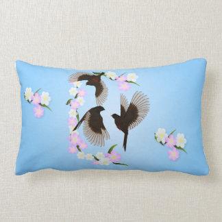 Three Sparrows Pillow